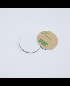 28mm White HARD PVC NFC Disc Tag NTAG213 3M Glue