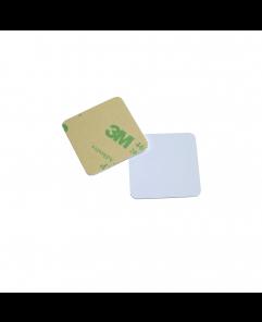 30mm x 30mm Square ANTI-METAL White HARD PVC NFC Disc Tag - NXP NTAG213