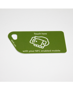 NFC Tag Key Card NTAG213 Green with touch here logo