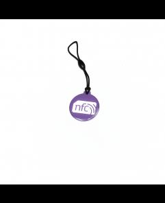 NFC Plastic Hang Tag NTAG213 Lilac