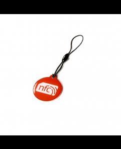 Red NFC Plastic Hang Tag NTAG213