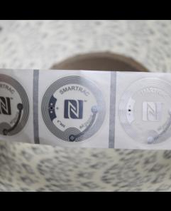 38mm Bullseye SMARTRAC NFC Stickers Clear - NXP NTAG213
