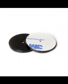 ANTI-METAL 30mm Black ABS NFC Disc Token - NXP NTAG216