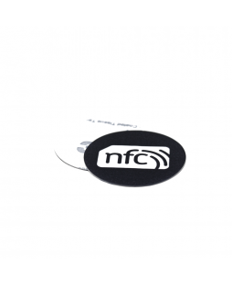 30mm Navy blue NFC PVC Sticker - NXP NTAG213