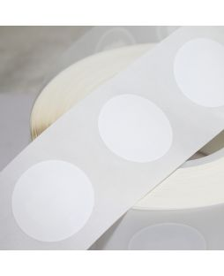 38mm Round NFC Sticker with White PVC front - NTAG215