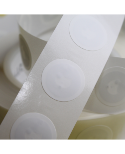 25mm Round NFC Sticker with White PVC front - NXP NTAG215