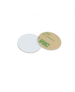28mm White HARD PVC NFC Disc Tag NTAG213 3M Glue