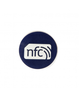 30mm NFC Sticker Blue  - NXP NTAG213