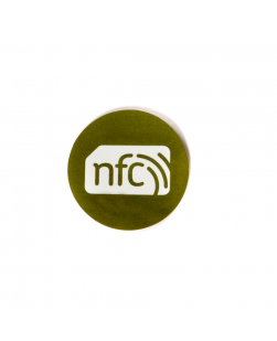 30mm NFC Sticker Green - NXP NTAG213