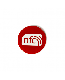 30mm NFC Sticker Red - NXP NTAG213