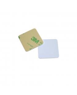 30mm x 30mm Square ANTI-METAL White HARD PVC NFC Disc Tag - NXP NTAG213
