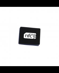 38mmx38mm Square  NFC Sticker Black PVC- NXP NTAG213