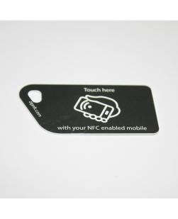 NFC Tag Key Card NTAG213 Black with touch here logo
