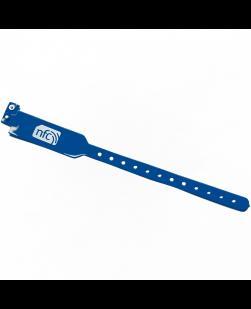 NFC Blue PVC Disposable Wristband NXP NTAG213
