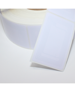 ID1 (85mm x 54mm) Rectangle NFC Sticker with thin White PVC front - NTAG213