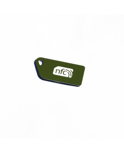 NFC Key Card  NXP NTAG213 Green with white NFC enabled logo