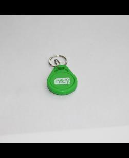 Green keyfob - ABS plastic