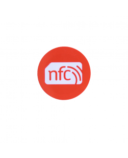 30mm NFC Sticker ORANGE PVC- NXP NTAG213