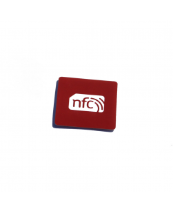 38mm x 38mm Square  NFC Sticker Red PVC - NXP NTAG213