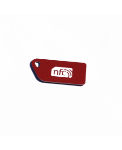 NFC Key Card NXP NTAG213 Red with white NFC enabled logo