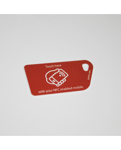 NFC Tag Key Card NTAG213 Red with touch here logo