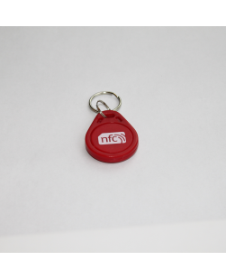 Red Pear Shaped ABS NFC Key fob - NXP NTAG213