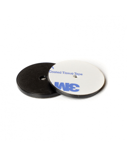 ANTI-METAL 30mm Black ABS NFC Disc Token - NXP NTAG216