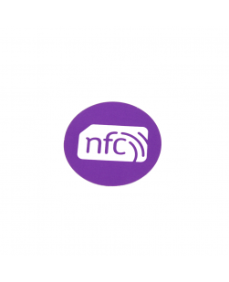 30mm NFC Sticker VIOLET PVC  - NXP NTAG213