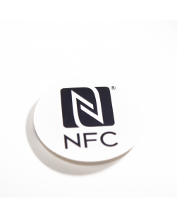 30mm NFC Sticker Black  - NXP NTAG213