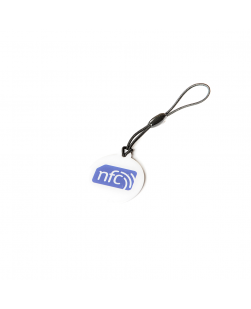 White NFC Plastic Hang Tag NTAG213