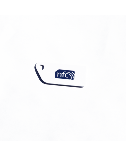 NFC Key Card NTAG213 White with blue NFC enabled  logo