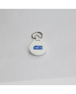 White Pear Shaped ABS NFC Key fob - NXP NTAG213