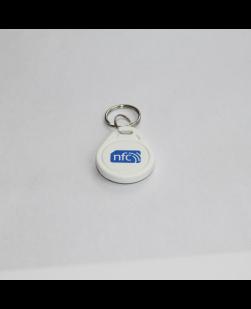 White Pear Shaped ABS NFC Key fob - NXP NTAG213
