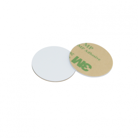 28mm Round NFC HARD PVC Disc with 3M Glue - NXP NTAG215